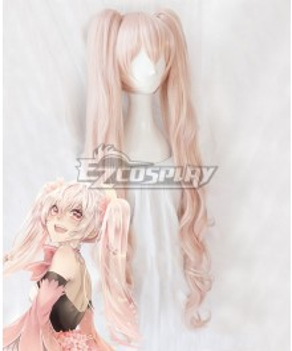 Vocaloid Sakura Miku Hatsune Miku Pink Long Cosplay Wig