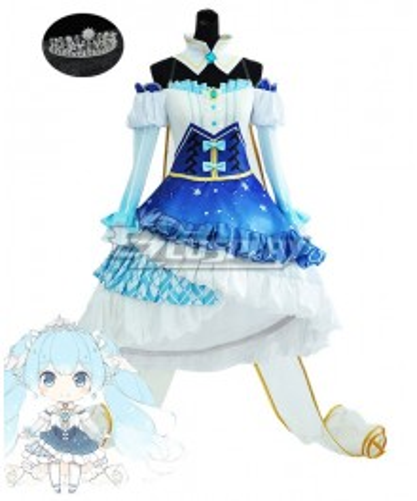 Vocaloid Snow Miku 2019 Cosplay Costume