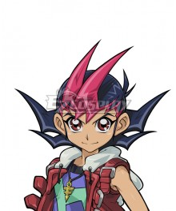 Yu-Gi-Oh! Yugioh Zexal Yuma Tsukumo  Pink Blue Cosplay Wig