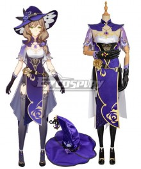Genshin Impact Lisa Cosplay Costume Premium Edition