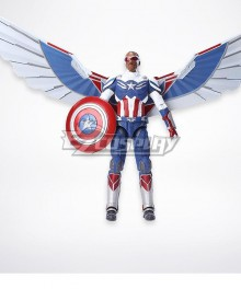 Marvel The Falcon and the Winter Soldier Captain Sam Wilson Cosplay Costume