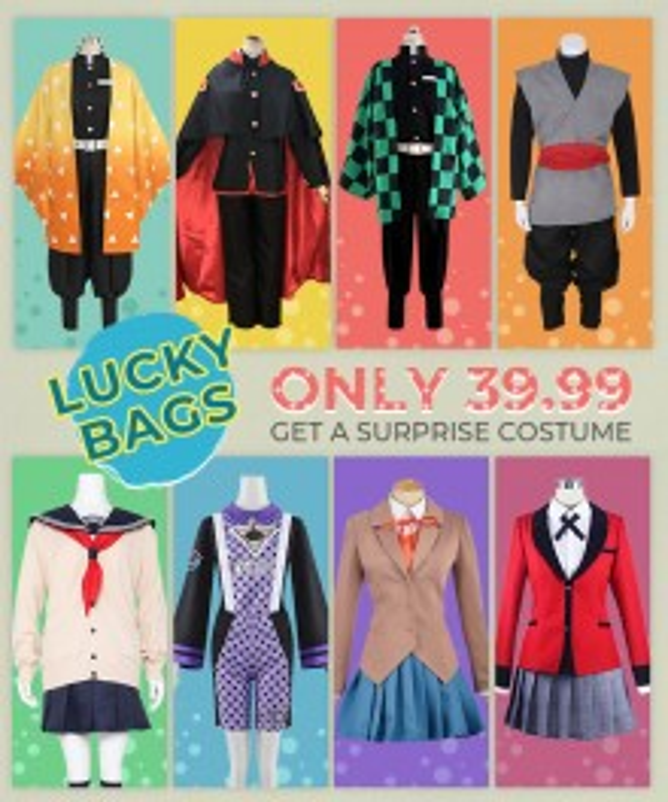 Ezcosplay Lucky Bag (Up to Value $99.99) 1 PC Random Halloween Cosplay Costume