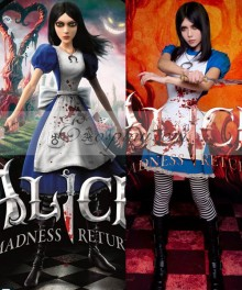 Alice-Madness Returns Alice Cosplay Costume - No Stain