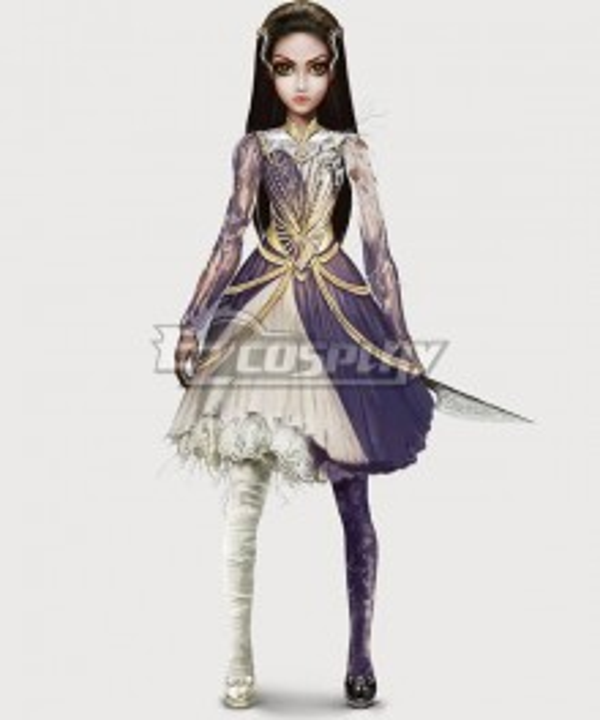 Alice: Asylum Alice Chaos Dress Purple Cosplay Costume