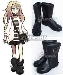 Angels of Death Satsuriku No Tenshi Game Ray Rachel Gardner Black Shoes Cosplay Boots