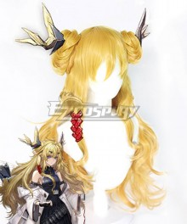 Arknights Leizi Golden Cosplay Wig
