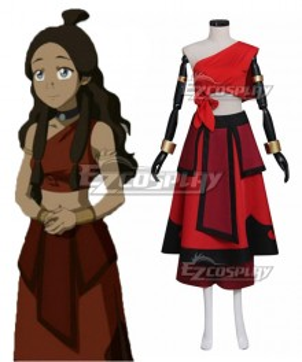 Avatar: The Last Airbender Katara Red Cosplay Costume