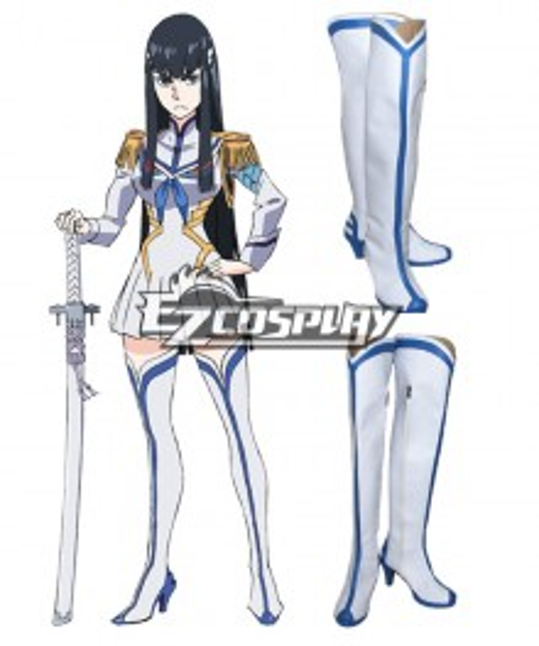 KILL la KILL Satsuki Kiryuin White Shoes Cosplay Boots