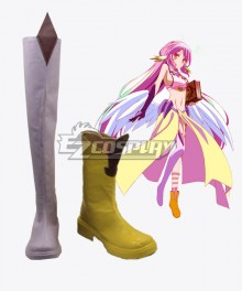 No Game No Life Nogomu Noraifu Jibril Jiburiru Boots Cosplay Shoes