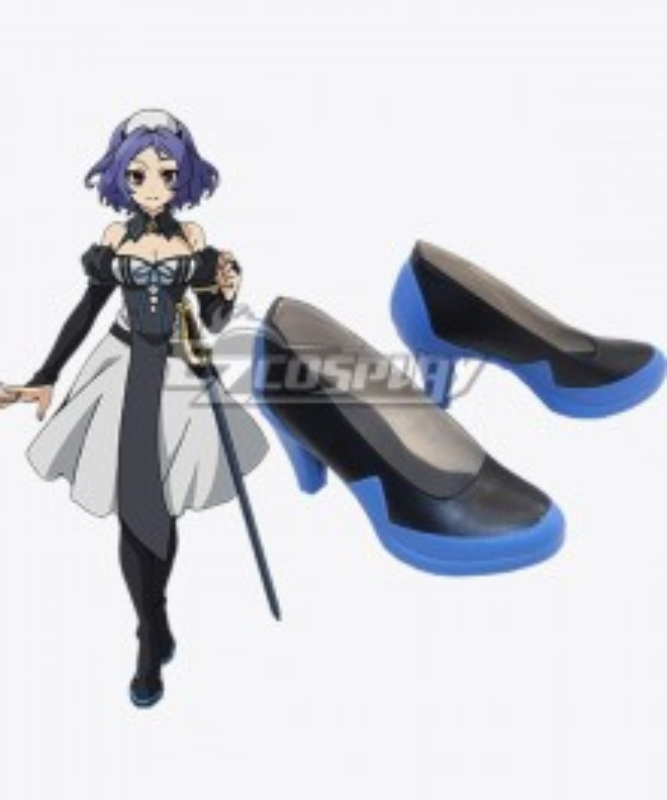 Seraph of the End Owari no Serafu Vampire Reign Chess Belle Chesu Beru Black Cosplay Shoes