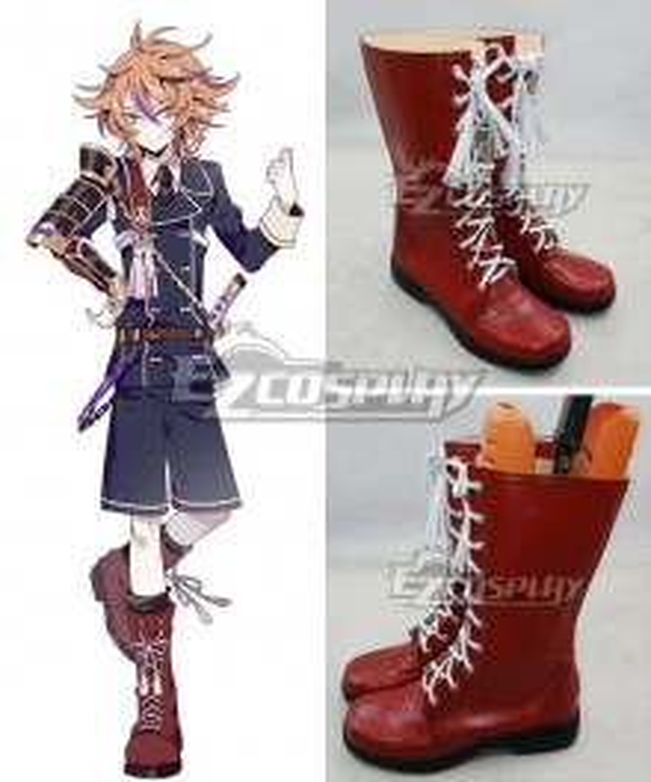 Touken Ranbu Online Gotou Toushirou Tantou Brown Shoes Cosplay Boots