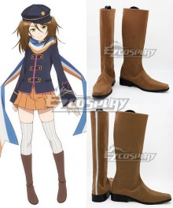 AntiMagic Academy The 35th Test Platoon Taimadou Gakuen 35 Shiken Shoutai Nikaido Mari Brown Shoes Cosplay Boots