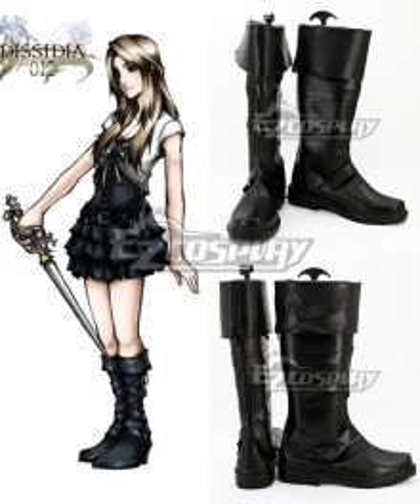 Final Fantasy XV Stella Nox Fleuret Black Shoes Cosplay Boots