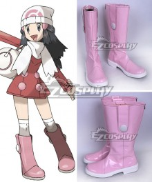 Pokemon Pocket  Monster Dawn Pink Shoes Cosplay Boots