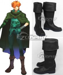 Fate Extra Archer Robin Hood Black Shoes Cosplay Boots