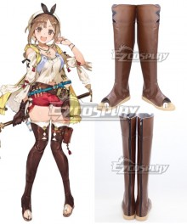 Atelier Ryza: Ever Darkness & the Secret Hideout Reisalin Stout Raizarin Shutauto Raiza Brown Shoes Cosplay Boots