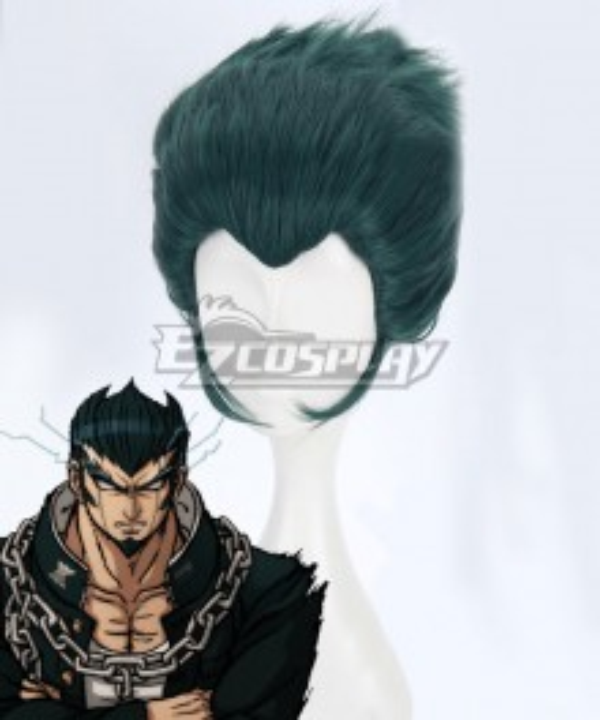 Danganronpa 2: Goodbye Despair Nekomaru Nidai Green Cosplay Wig