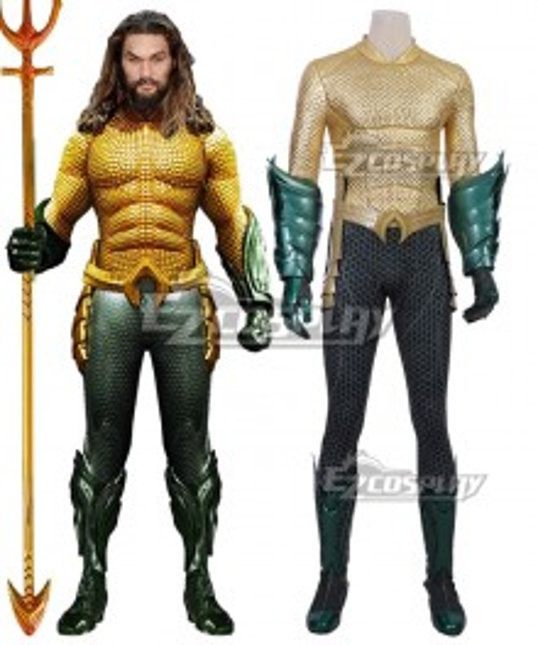 DC Comics 2018 Movie Aquaman Arthur Curry Cosplay Costume - A Edition