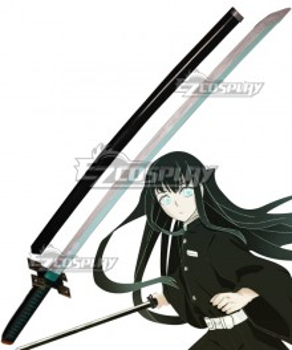 Demon Slayer: Kimetsu No Yaiba Tokitou Muichirou Muichiro Tokito Knife Scabbard Cosplay Weapon Prop B Edition