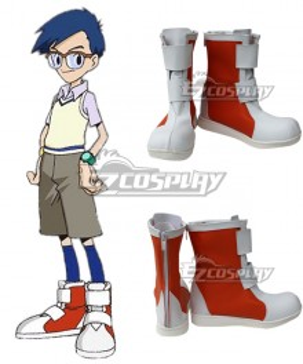 Digimon Adventure  Joe Kido Red Cosplay Shoes