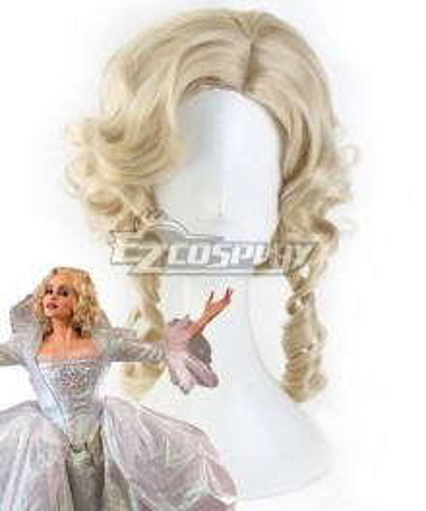 Disney Cinderella Movie Fairy Godmother Light Golden Cosplay Wig