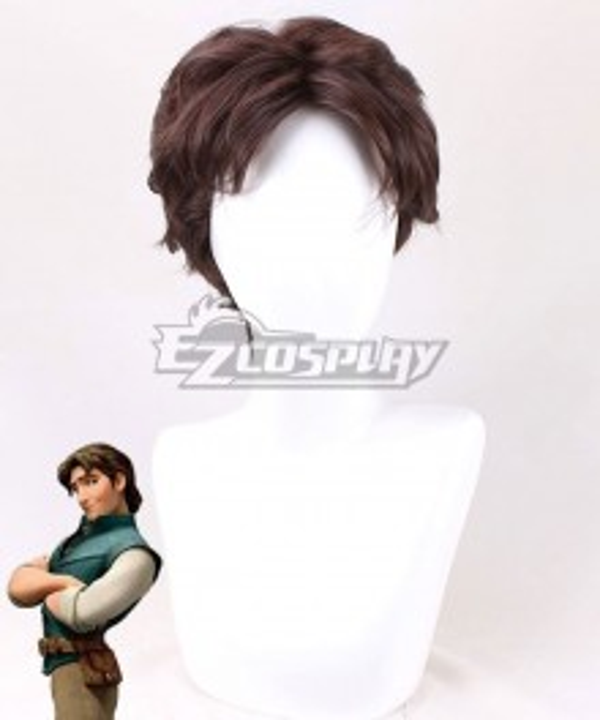 Disney Tangled Flynn Rider Brown Cosplay Wig
