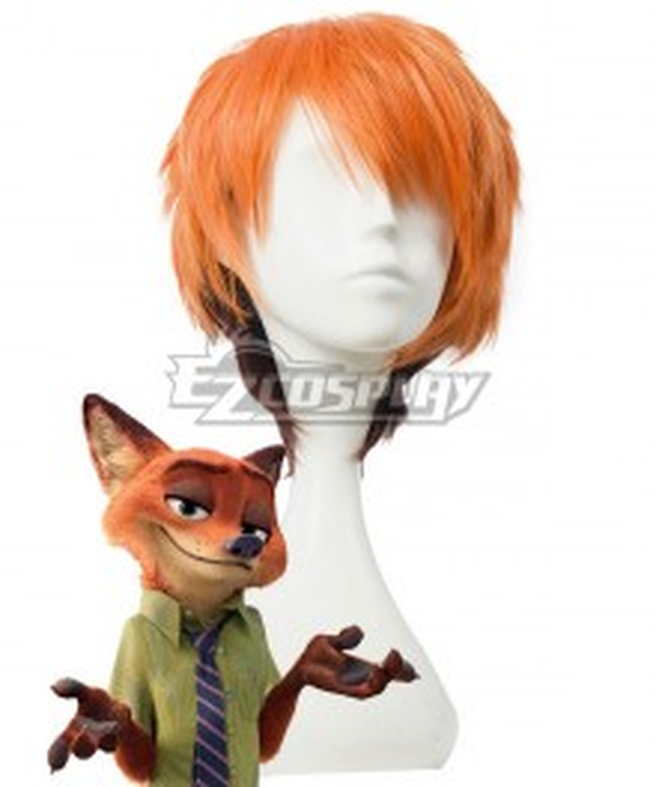 Disney Zootopia Nicholas P. Wilde Fox Nick Orange Cosplay Wig - B Edition
