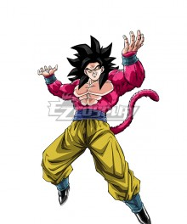 Dragon Ball GT Son Goku Kakarotto SSJ4 Cosplay Costume