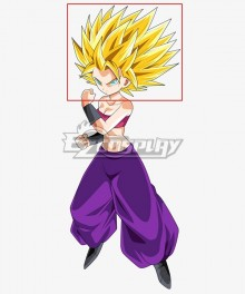 Dragon Ball Super Caulifla Super Saiyan Golden Cosplay Wig