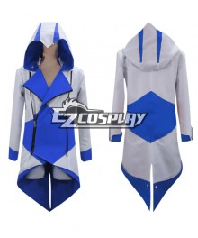 Assassin's Creed III Connor Blue & White Jacket Cosplay Costume