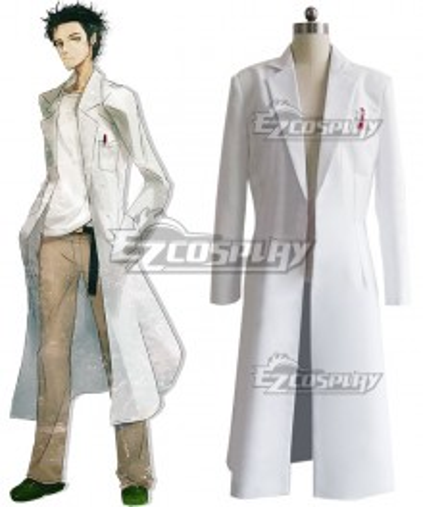 Steins;Gate Steins Gate Rintaro Okabe Coat Cosplay Costume