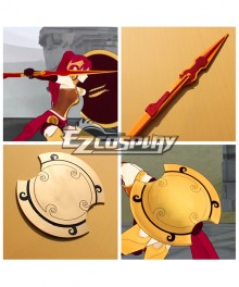 RWBY Beacon Academy Team JNPR Pyrrha Nikos Javelin and Shield Cosplay Prop