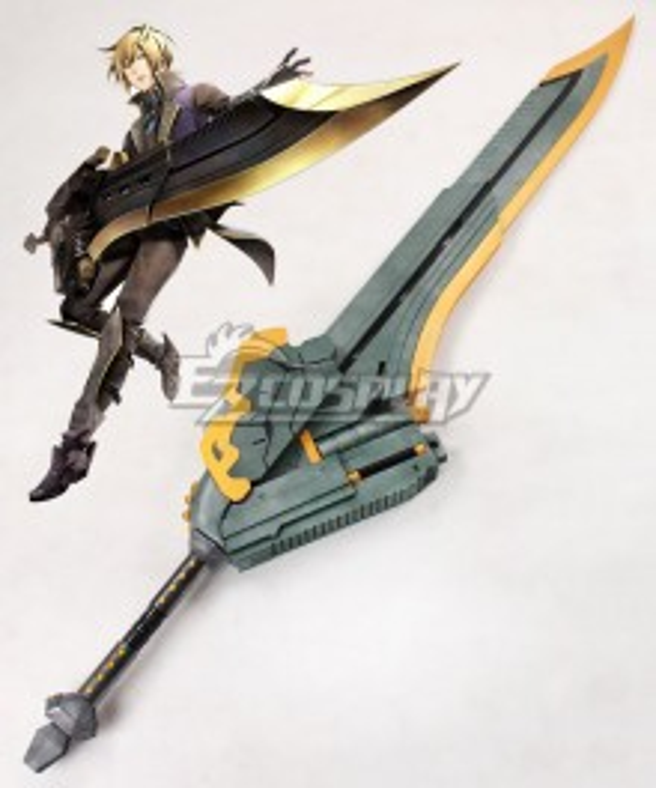 God Eater 2 Rage Burst Julius Visconti Sword Cosplay Weapon Prop