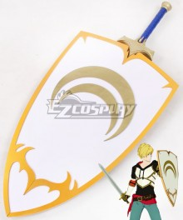 RWBY Volume 4 Jaune Arc Sword Scabbard Shield Cosplay Weapon Prop
