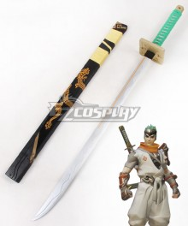 Overwatch OW Genji Shimada Young Long sword B Cosplay Weapon Prop