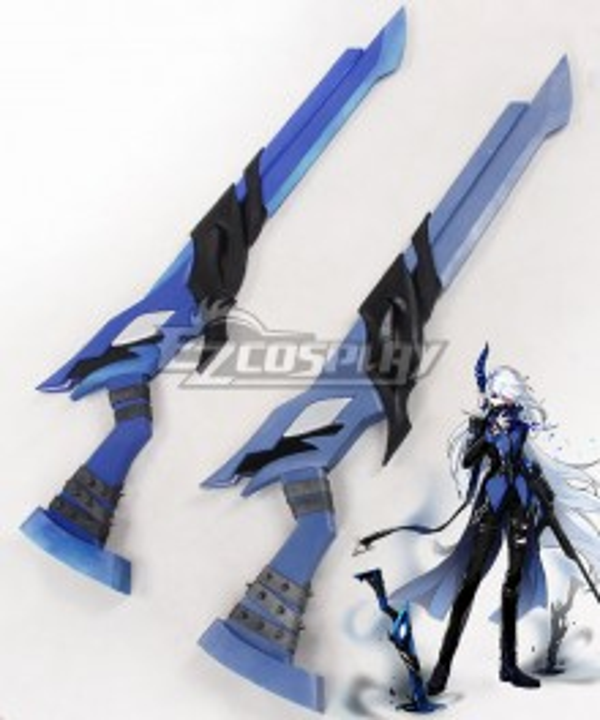 Elsword Luciela R. Sourcream Lu Ciel Demonio Two Guns Cosplay Weapon Prop