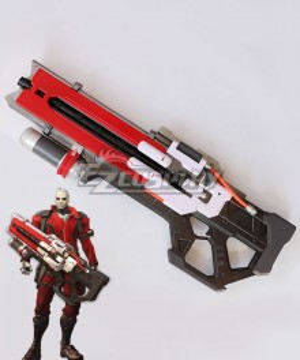 Overwatch OW Soldier 76 John Jack Morrison Immortal Gun Cosplay Weapon Prop