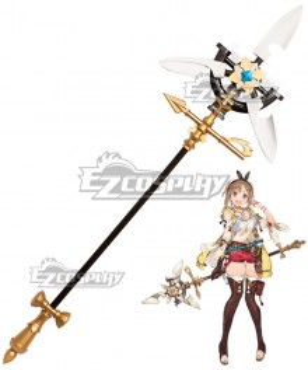 Atelier Ryza: Ever Darkness & the Secret Hideout Reisalin Stout Raizarin Shutauto Raiza Staff Cosplay Weapon Prop