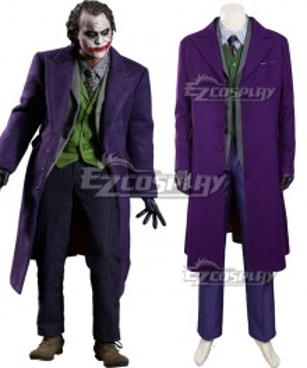 DC The Dark Knight Batman Joker B Cosplay Costume - Woolen coat