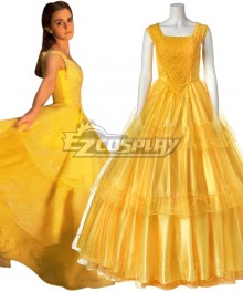 Disney Beauty and The Beast Movie 2017 Belle Dress Cosplay Costume