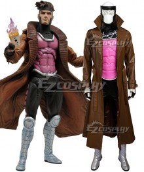 Marvel Uncanny X-Men X Men Gambit Remy Etienne LeBeau Cosplay Costume - Including Boots