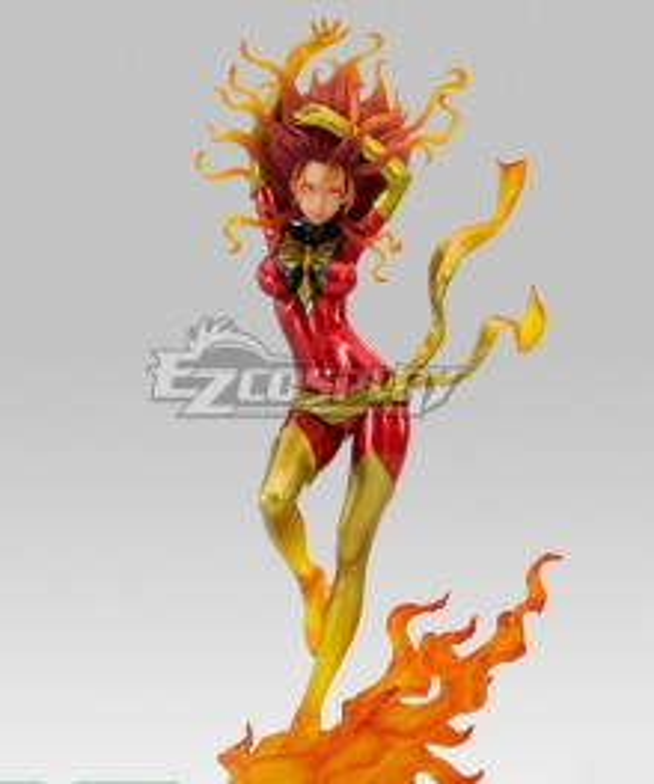 Marvel Comics Grey Dark Phoenix Cosplay Costume
