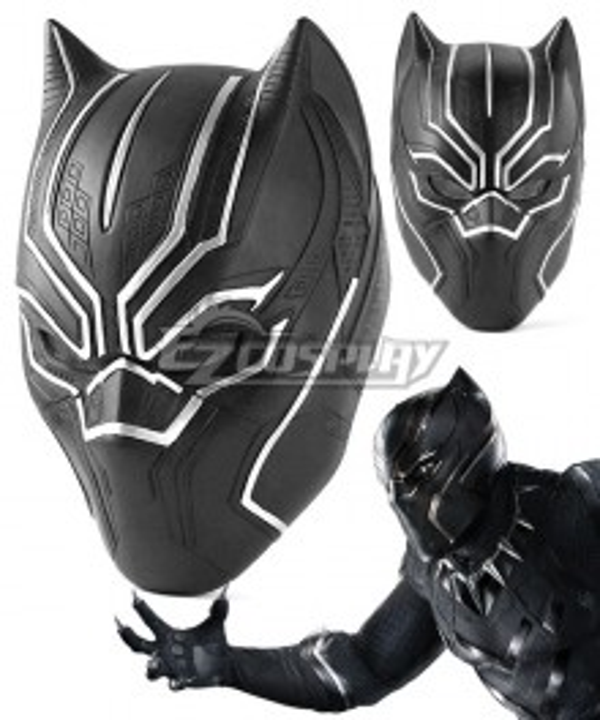 Marvel Captain America: Civil War Black Panther T'Challa Helmet Cosplay Accessory Prop - ENA0216