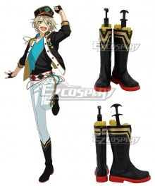 Ensemble Stars!! ALKALOID Shiratori Aira Black Shoes Cosplay Boots