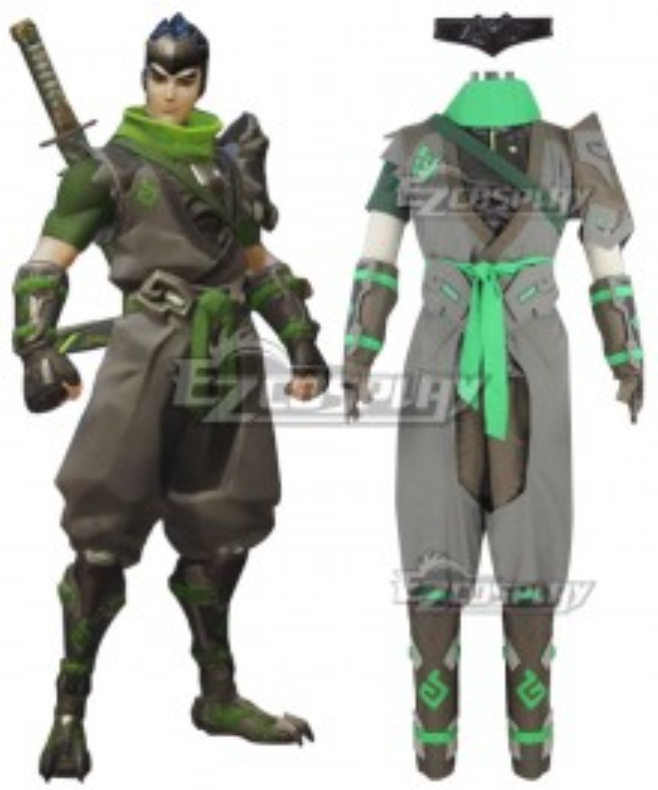 Overwatch OW Genji Shimada Sparrow Cosplay Costume - Premium Edition