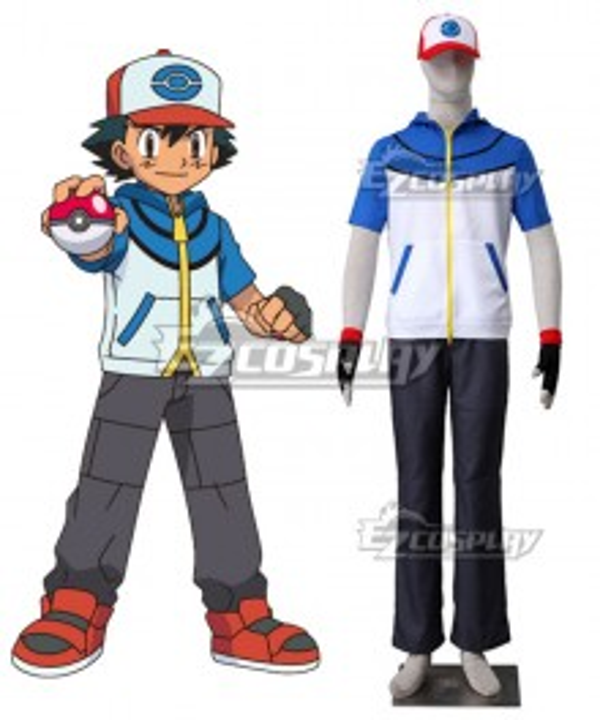 Pokémon Best Wishes Pokemon Pocket Monster Ash Ketchum Cosplay Costume