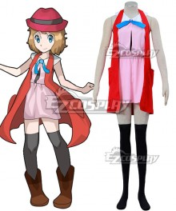 Pokémon XY Pokemon Pocket Monster Serena Cosplay Costume - A Edition