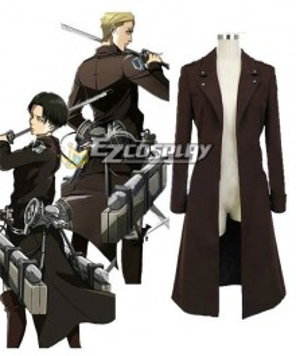 Attack on Titan Shingeki no Kyojin The Recon Corp Eren & Levi & Mikasa Wings of Counterattack Online Coat Cosplay Costume