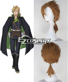 Seraph of the End Owari no Serafu Norito Goshi Short Blond Color Cosplay Wig
