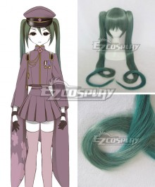 Vocaloid Thousand Cherry Tree Hatsune Miku Dark green Gradient Cosplay Wig